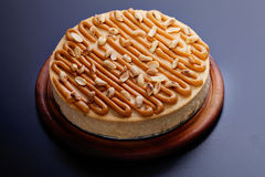 Cheesecake with peanuts Royalty Free Stock Photography