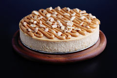 Cheesecake with peanuts Royalty Free Stock Photos