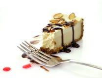 cheesecake plasterek fotografia royalty free