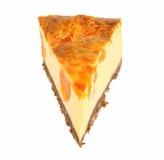 Cheesecake plasterek zdjęcie royalty free