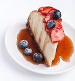 cheesecake plasterek Zdjęcia Royalty Free
