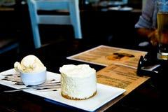 Cheesecake on Plate Stock Photo