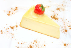 Cheesecake on the plate Stock Photos
