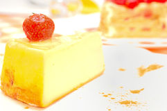 Cheesecake on the plate Royalty Free Stock Photography