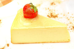 Cheesecake on the plate Royalty Free Stock Images