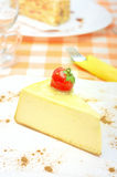 Cheesecake on the plate Royalty Free Stock Photos
