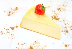 Cheesecake on the plate Royalty Free Stock Image