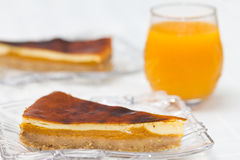 Cheesecake with pumpkin Royalty Free Stock Photo