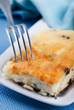 Cheesecake with raisins Stock Photography