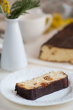 Cheesecake with raisins Royalty Free Stock Images