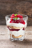 Cheesecake with raspberries Stock Images