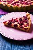 Cheesecake with raspberries Stock Photography