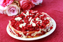 Cheesecake with redcurrant Royalty Free Stock Photos