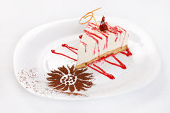 Cheesecake with sauce Royalty Free Stock Photography
