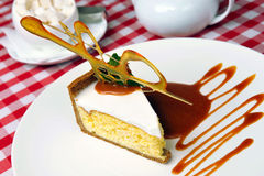 Cheesecake with sauce Stock Photography