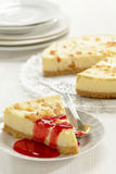 Cheesecake slice Stock Photo