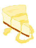 Cheesecake slice with cream. Royalty Free Stock Photo