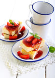 Cheesecake slices Royalty Free Stock Images