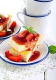Cheesecake slices Stock Image