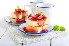 Cheesecake slices Stock Images