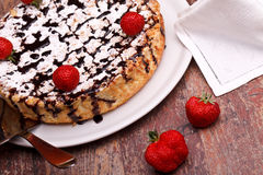 Cheesecake And Strawberries Royalty Free Stock Photos