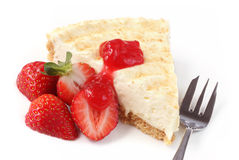 Cheesecake with Strawberries Royalty Free Stock Images