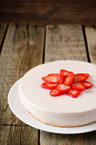 Cheesecake with strawberry Royalty Free Stock Images