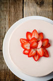 Cheesecake with strawberry Stock Photos