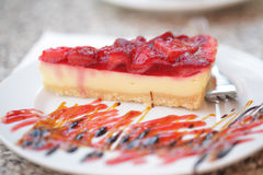 Cheesecake with strawberry Royalty Free Stock Photo