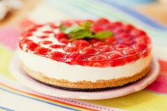 Cheesecake with strawberry Royalty Free Stock Photography