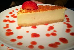 Cheesecake with strawberry Royalty Free Stock Image