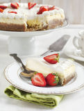 Cheesecake with strawberry Stock Photography