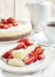 Cheesecake with strawberry Stock Photo