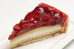 Cheesecake with strawberry topping Royalty Free Stock Photography