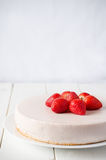 Cheesecake with strawberry Stock Image