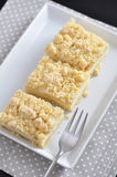 Cheesecake Streusel Bars Royalty Free Stock Photography