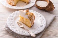 Cheesecake with Swiss meringue Stock Image