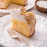 Cheesecake with Swiss meringue Royalty Free Stock Photos