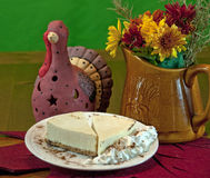 Cheesecake on Thanksgiving table Royalty Free Stock Image
