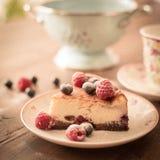 cheesecake foto de archivo libre de regalías