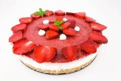 cheesecake truskawek jogurt Zdjęcia Stock