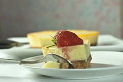 cheesecake truskawka Obraz Royalty Free