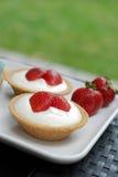 cheesecake truskawki tarts Obraz Stock