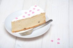 Cheesecake for Valentines Royalty Free Stock Images