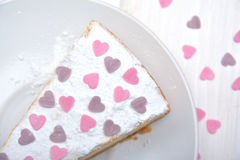 Cheesecake for Valentines Stock Photography
