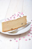 Cheesecake for Valentines Stock Image