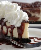 Cheesecake With Whipped Cream Stock Image