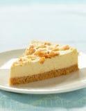 Cheesecake on white plate Stock Photos