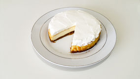 Cheesecake. In a white plate Royalty Free Stock Photos
