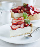 Cheesecake With Strawberries Royalty Free Stock Photo